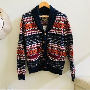 O'hanlon mills Fair isle cardigan sweater urban M